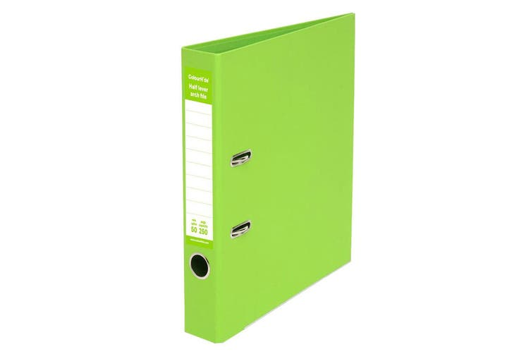 ColourHide A4 50mm 250 Sheets Half Lever Arch File/Holder Office Organiser Green