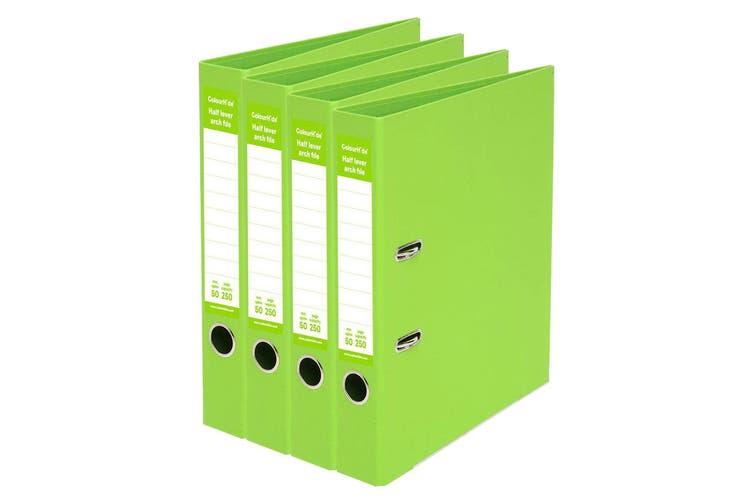 4x ColourHide A4 50mm 250 Sheets Half Lever Arch File/Holder Office Organiser GN