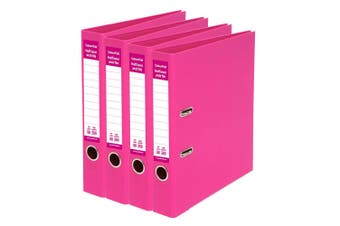 4x ColourHide A4 50mm 250 Sheets Half Lever Arch File/Paper Office Organiser PK
