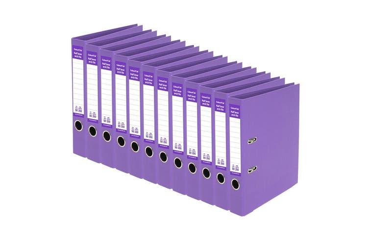 12PK ColourHide A4 250 Sheets Half Lever Arch File/Office Organiser/Binder PPL