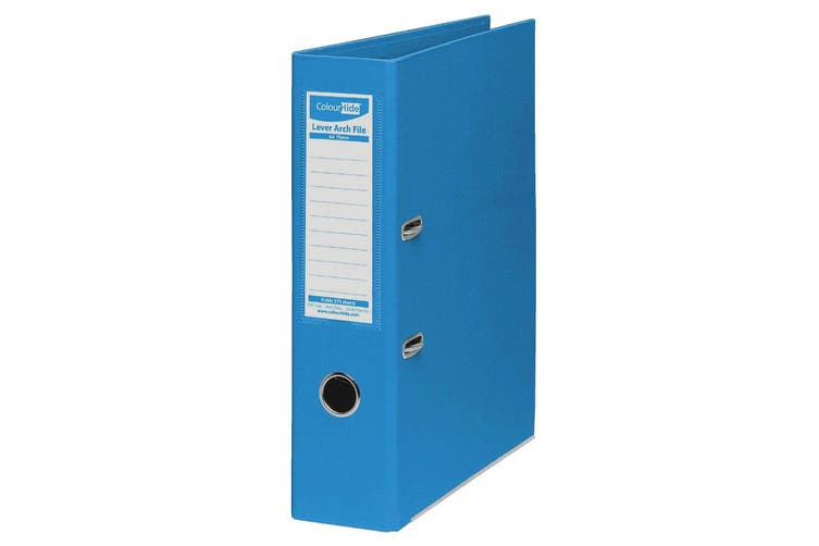 ColourHide A4 75mm 375 Sheets Lever Arch File/Paper Binder/Office Organiser Blue