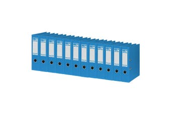 12PK ColourHide A4 375 Sheets Lever Arch File/Paper Binder/Office Organiser Blue