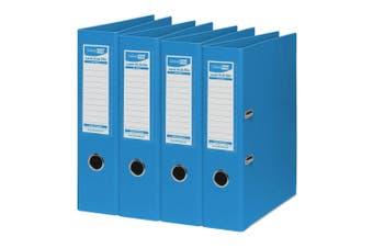 4PK ColourHide A4 375 Sheets Lever Arch File/Paper Binder/Office Organiser Blue