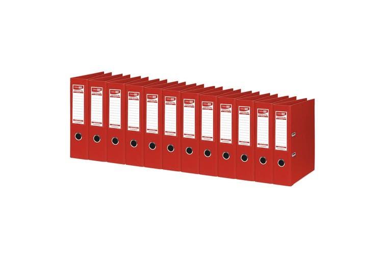 12PK ColourHide A4 375 Sheets Lever Arch File Folder/Binder Office Organiser Red