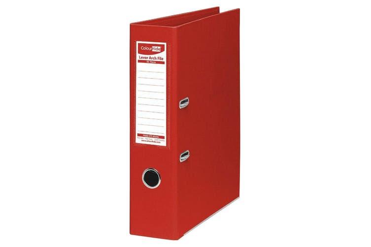 4PK ColourHide A4 375 Sheets Lever Arch File Folder/Binder Office Organiser Red
