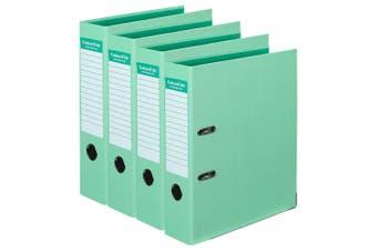 4PK Colour Hide A4 75mm 375 Sheets Lever Arch Folder/Binder File Organiser Mint