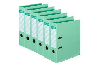 6PK Colour Hide A4 75mm 375 Sheets Lever Arch Folder/Binder File Organiser Mint