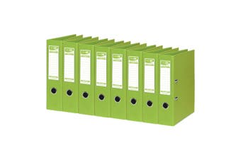 8PK ColourHide A4 375 Sheets Lever Arch File/Paper Binder/Office Organiser Lime
