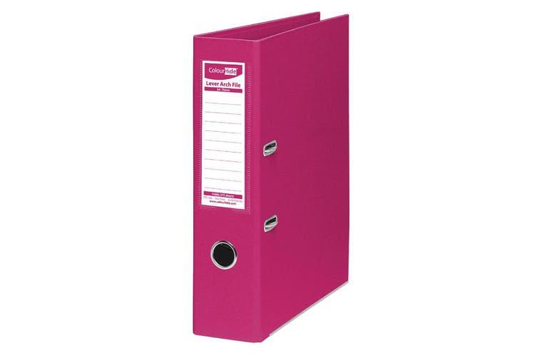 12x ColourHide A4 375 Sheets Lever Arch File Folder/Binder Office Organiser Pink