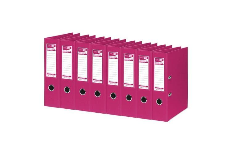 8PK ColourHide A4 375 Sheets Lever Arch File Folder/Binder Office Organiser Pink