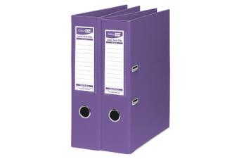 2PK ColourHide A4 375 Sheets Lever Arch File Folder/Binder Office Organiser PP