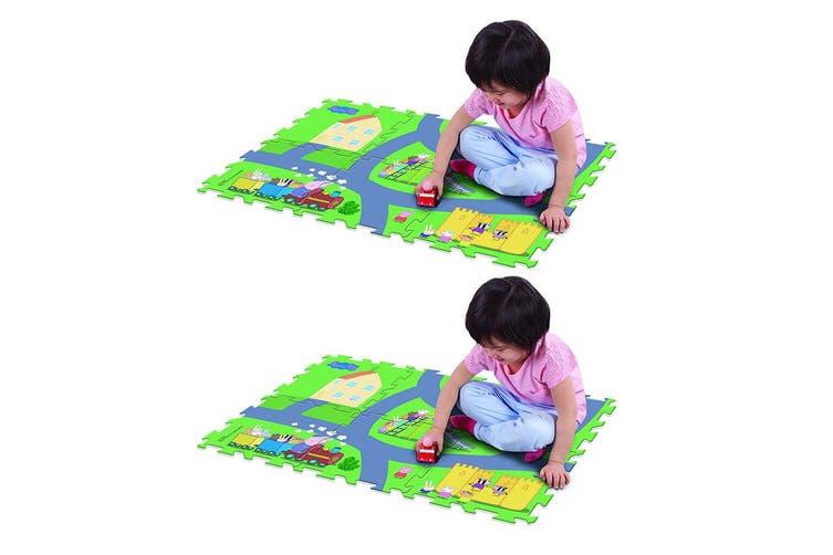 "2x Peppa Pig 28"" x 19"" Megamat Playmat/Playset w/ Assorted Vehicle Kids 3y+ Toy"