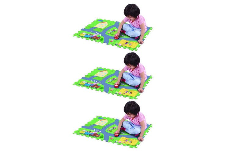 "3x Peppa Pig 28"" x 19"" Megamat Playmat/Playset w/ Assorted Vehicle Kids 3y+ Toy"