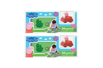 "2x Peppa Pig 31.5"" x 27.5"" Megamat Playmat Kids Toys 3y+ w/ Assorted Vehicle Car"