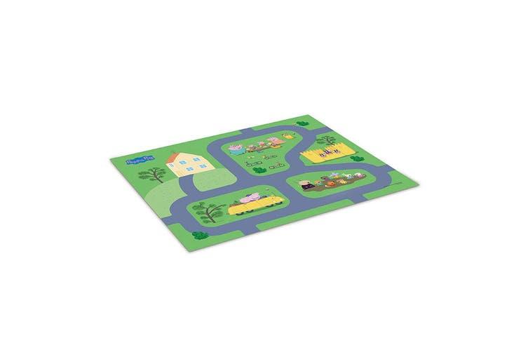 "2x Peppa Pig 31.5"" x 27.5"" Megamat Playmat Kids Toys 3y+ w/ Assorted Vehicle Car"