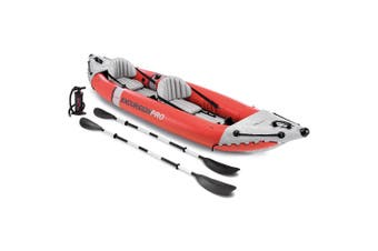 Intex 384cm Sports Excursion Pro Inflatable Fishing Kayak/Boat Oars River/Lake