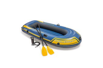 Intex 236cm Challenger 2 Inflatable/Floating Sports Boat w/ Oars/Paddles 14y+