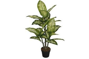 Potted Faux Dumbcane 93cm Decorative Artificial Plant Garden Home Decor Green