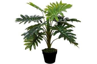 Potted Faux Monstera 70cm Plastic Artificial Plant Decoration Garden/Home Decor