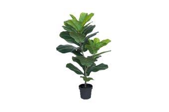 Potted Artificial 80cm Fiddle-Leaf Fig Tree Faux Plastic Plant Home/Room Decor