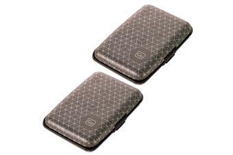 2x Go Travel RFID Protection Lightweight Wallet/Purse Credit/Debit Card Case