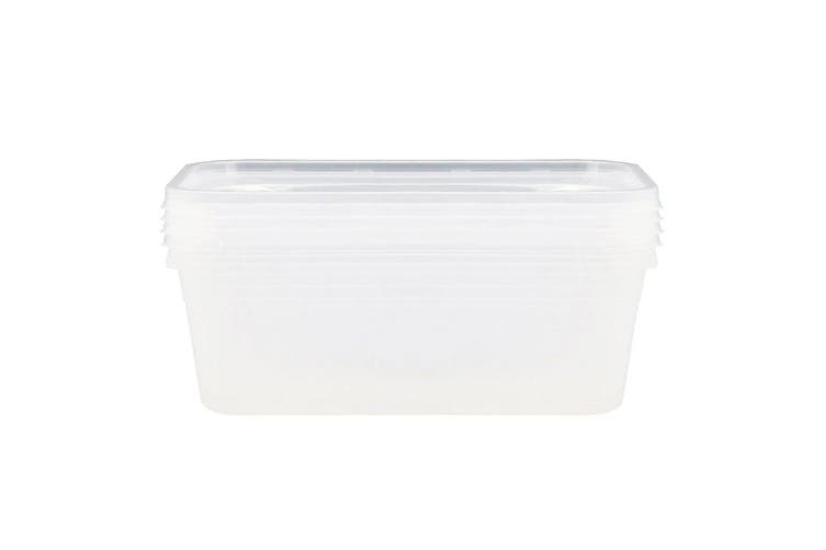 4PK Lemon Lime Reusable BPA Free Plastic Food/Meal Containers Storage Clear