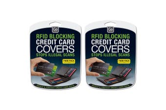 2x 2pc Go Travel RFID/Contactless Protection Wallet Credit/Debit Card Guard Case