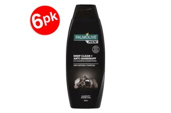 6x Palmolive 2 -1 Anti Dandruff Shampoo/Conditioner Deep Clean Charcoal for Men