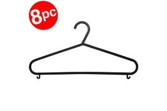 8pc Box Sweden Clothes Hangers Wardrobe Closet Clothing Hanger Organiser Black