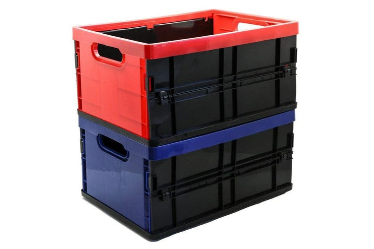 3PK Box Sweden 20L Collapsible Crate Storage Organiser Container Box Assorted