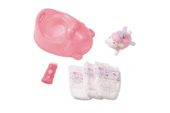 Baby Annabell Potty Powder/Tissue/Nappies Pretend/Role Play for Toy Doll Set 3y+