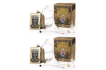 2x Craft A Brew American Ale Pub Brew Beer/Liquor Home Glass Brewing Starter Kit