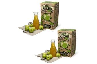 2x Craft A Brew Hard Apple Cider Home Glass Fermenter Brewing/Starter Brewer Kit
