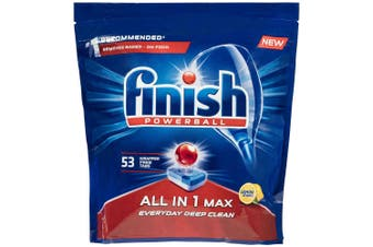 Finish 53 Tabs All in 1 Powerball Max Dishwashing Lemon Detergent for Dishwasher