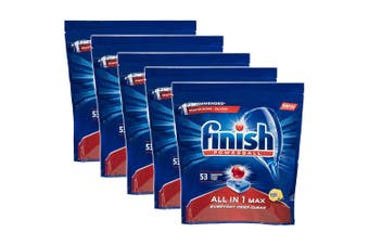 Finish 265 Tabs All in 1 Powerball Max Dishwashing Lemon Detergent f/ Dishwasher