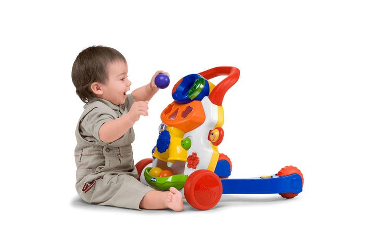 Chicco Baby Steps Activity Walker Push f/ Infant/Toddler 9-24m w/ Music/Play Toy