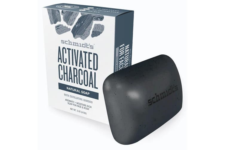 12x Schmidt's Activated Charcoal Exfoliating Face/Body Natural Soap Bar w/Bamboo