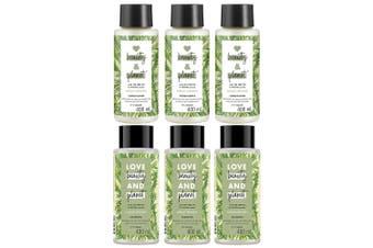 3x Beauty & Planet 400ml Vegan Hair Conditioner & Shampoo w/Tea Tree Oil/Vetiver