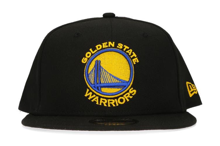 New Era Golden State Warriors 9FIFTY Adult Snapback Cap/Hat NBA Basketball Black