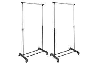 2x Box Sweden Hight Adjustable Garment/Clothes Hanger Rack/Closet Organiser