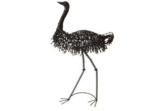 Tall Metal Mr. Emu 139cm Decoration Sculpture/Figurine Home Decor Rust Charcoal