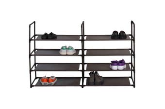 Box Sweden Durable 8 Tier Stackable Standing Shoe Home Organiser/Racks/Storage