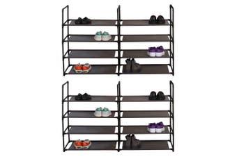 2PK Box Sweden Durable 8 Tier Stackable Standing Shoe Home Organiser/Storage