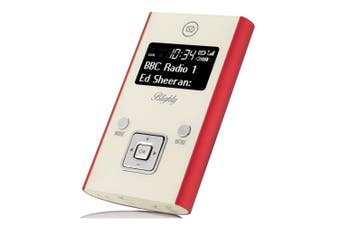 View Quest Blighty DAB+ Pocket Digital FM Radio/Bluetooth/Wireless Speaker Red