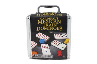 Cardinal Mexican Train Double Twelve Dominoes w/Carry Case Family/Kids Game 8y+