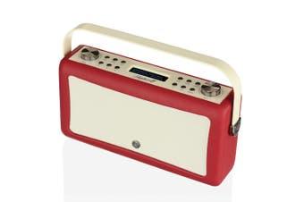 View Quest Hepburn MkII DAB/DAB+ Digital/FM Radio/Bluetooth Speaker Red