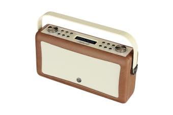 View Quest Hepburn MkII DAB/DAB+ Digital AM/FM Radio/Bluetooth Speaker Brown