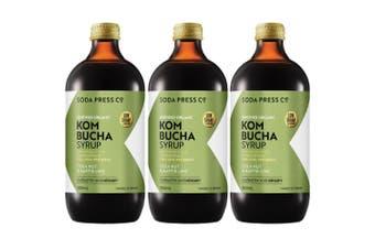 3x SodaStream 500ml Soda Press Organic Syrup/Mix Kombucha Cola Nut & Kaffir Lime