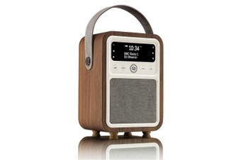 VQ Monty Retro DAB/DAB+/FM Digital Radio Bluetooth Speaker/Alarm/USB Port Walnut