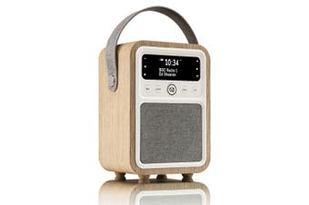 View Quest Monty Retro DAB+ Digital AM/FM Radio/Bluetooth/Wireless Speaker Oak